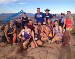 #RunEatTweetAZ Group Photo Camelback 7.20.14