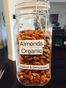 Almonds in jar