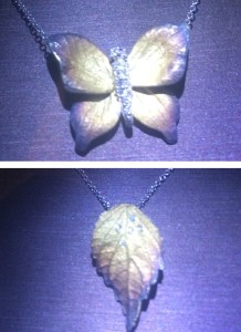 Butterfly and Leaf necklaces