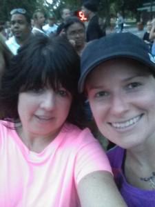 Terri & Kristin selfie NCPD Memorial 5k