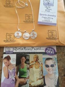 Girls Run Fast - Yoga:sup charms in mail