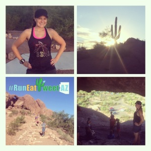 RunEatTweetAZ Papago Park pic collage