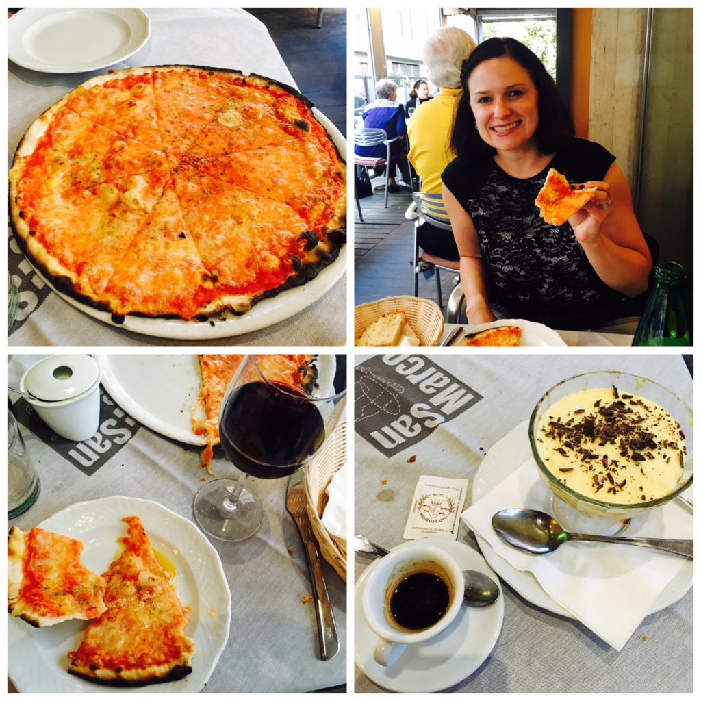 Pizza in Rome collage