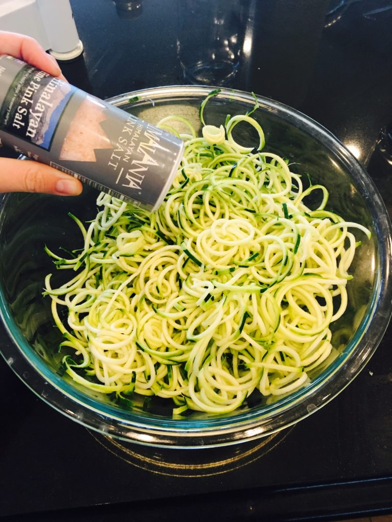 Salt on zoodles
