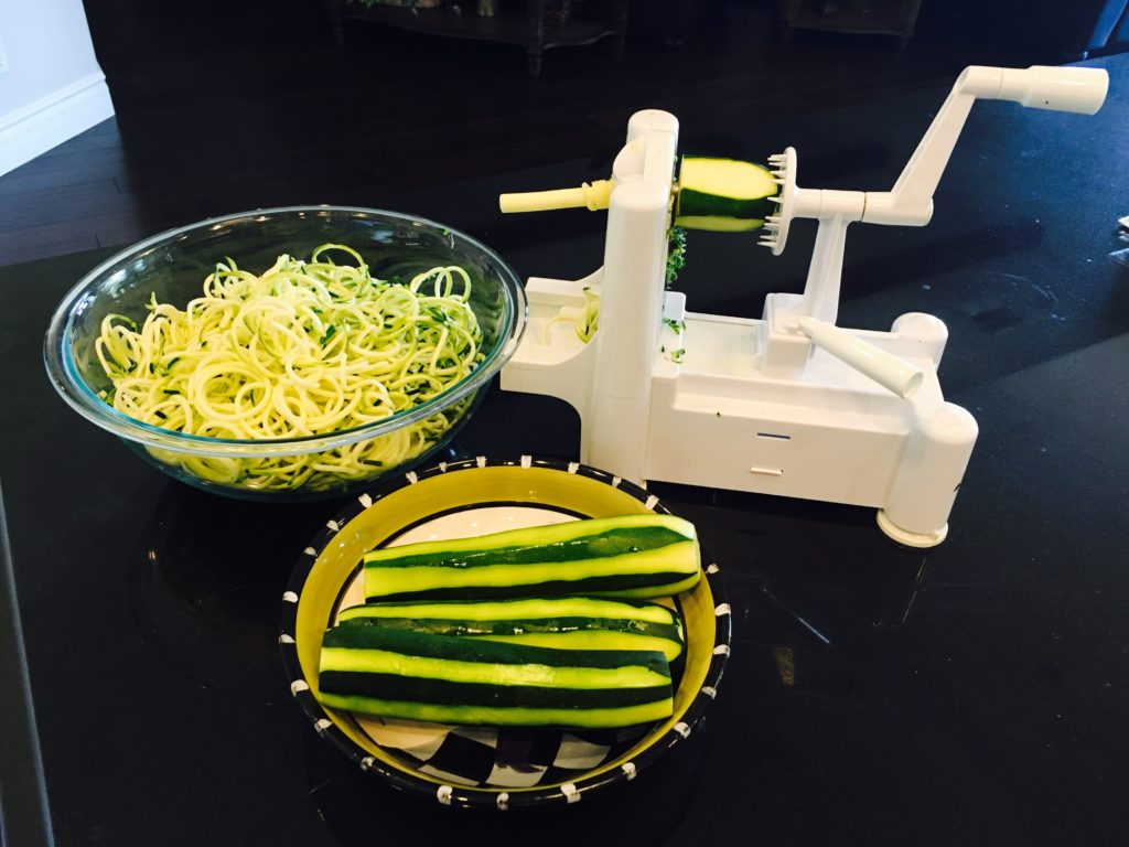 Zucchini spiral in action